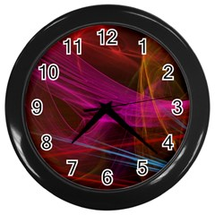 Background Abstract Colorful Light Wall Clock (black)
