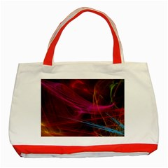 Background Abstract Colorful Light Classic Tote Bag (red) by Wegoenart