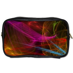 Background Abstract Colorful Light Toiletries Bag (two Sides)
