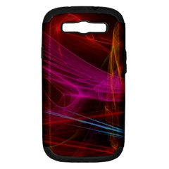 Background Abstract Colorful Light Samsung Galaxy S Iii Hardshell Case (pc+silicone)