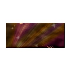 Space Orbs Stars Abstract Sky Hand Towel by Wegoenart