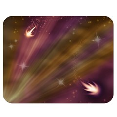Space Orbs Stars Abstract Sky Double Sided Flano Blanket (medium)