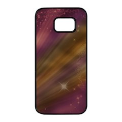 Space Orbs Stars Abstract Sky Samsung Galaxy S7 Edge Black Seamless Case