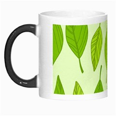 Autumn Background Boxes Green Leaf Morph Mugs