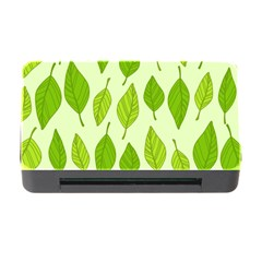 Autumn Background Boxes Green Leaf Memory Card Reader With Cf