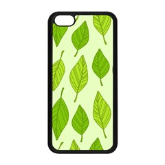 Autumn Background Boxes Green Leaf Apple Iphone 5c Seamless Case (black)