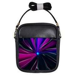 Abstract Background Lightning Girls Sling Bag