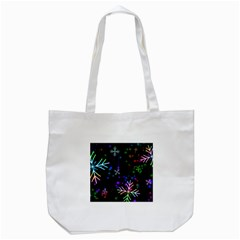Snowflakes Snow Winter Christmas Tote Bag (white)