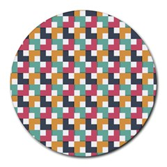 Background Abstract Geometric Round Mousepads