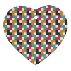 Background Abstract Geometric Heart Ornament (two Sides)