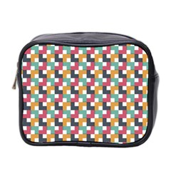 Background Abstract Geometric Mini Toiletries Bag (two Sides)