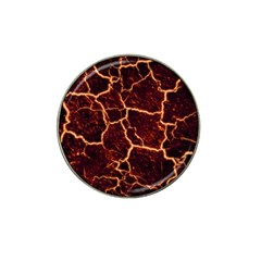 Lava Cracked Background Fire Hat Clip Ball Marker