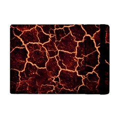 Lava Cracked Background Fire Apple Ipad Mini Flip Case by Wegoenart