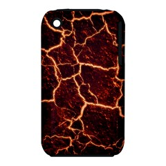 Lava Cracked Background Fire Iphone 3s/3gs