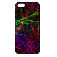 Background Abstract Cubes Square Apple Iphone 5 Seamless Case (black)