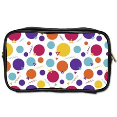 Background Background Polka Dot Toiletries Bag (two Sides)