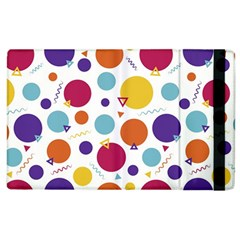 Background Background Polka Dot Apple Ipad 2 Flip Case