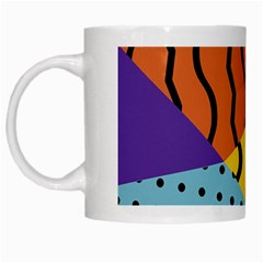 Background Abstract Memphis White Mugs