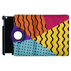 Background Abstract Memphis Apple Ipad 3/4 Flip 360 Case by Wegoenart
