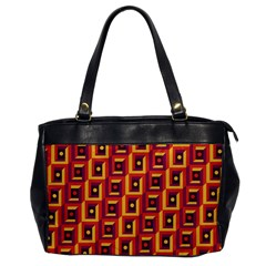 Vintage Abstract Background Oversize Office Handbag