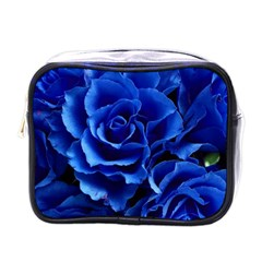 Blue Roses Flowers Plant Romance Mini Toiletries Bag (one Side) by Wegoenart