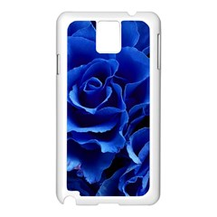 Blue Roses Flowers Plant Romance Samsung Galaxy Note 3 N9005 Case (white)