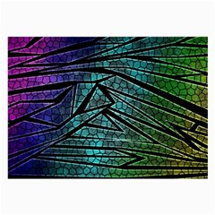 Abstract Background Rainbow Metal Large Glasses Cloth (2 Side) by Wegoenart