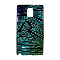 Abstract Background Rainbow Metal Samsung Galaxy Note 4 Hardshell Case