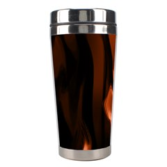 Smoke Flame Abstract Orange Red Stainless Steel Travel Tumblers by Wegoenart