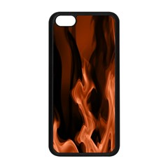 Smoke Flame Abstract Orange Red Apple Iphone 5c Seamless Case (black)