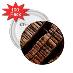 Books Bookshelf Classic Collection 2 25  Buttons (100 Pack)