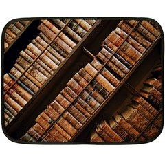 Books Bookshelf Classic Collection Fleece Blanket (mini) by Wegoenart