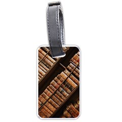 Books Bookshelf Classic Collection Luggage Tags (one Side)  by Wegoenart