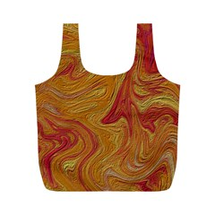 Texture Pattern Abstract Art Full Print Recycle Bag (m)