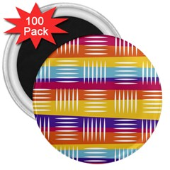 Art Background Abstract 3  Magnets (100 Pack)