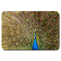 Peacock Plumage Bird Peafowl Large Doormat
