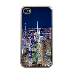 New York Manhattan Night Building Apple Iphone 4 Case (clear)