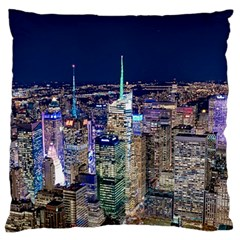 New York Manhattan Night Building Large Cushion Case (two Sides)