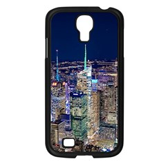 New York Manhattan Night Building Samsung Galaxy S4 I9500/ I9505 Case (black)