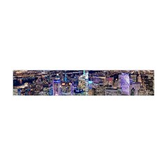 New York Manhattan Night Building Flano Scarf (mini)