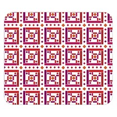 Background Abstract Square Double Sided Flano Blanket (small)
