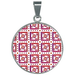 Background Abstract Square 30mm Round Necklace by Wegoenart