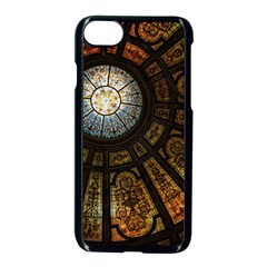 Art Ceiling Dome Pattern Apple Iphone 7 Seamless Case (black)