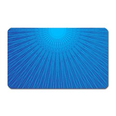 Blue Rays Background Image Magnet (rectangular)