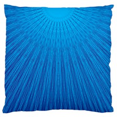 Blue Rays Background Image Large Cushion Case (two Sides)