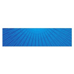 Blue Rays Background Image Satin Scarf (oblong)