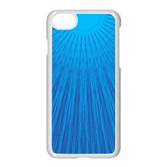 Blue Rays Background Image Apple Iphone 8 Seamless Case (white)