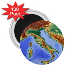 Italy Alpine Alpine Region Map 2 25  Magnets (100 Pack)