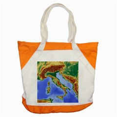 Italy Alpine Alpine Region Map Accent Tote Bag by Wegoenart