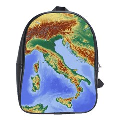 Italy Alpine Alpine Region Map School Bag (large) by Wegoenart